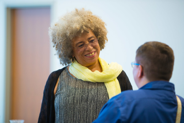 Angela Davis with a DRS participant