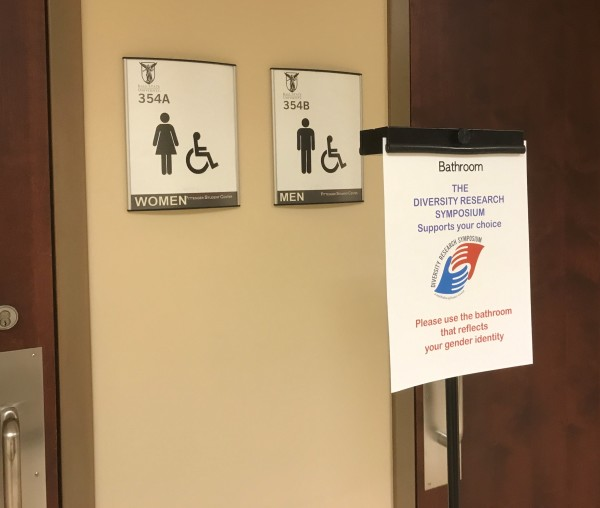 DRS Bathroom signs. Photo by Margaret L. Signorella