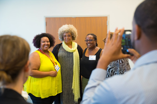 Renae Mayes, Angela Davis, and Sharon Bowman