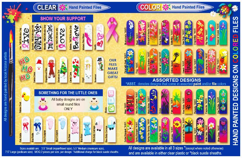 95&Sunny Inc. Crystal Nail File catalog