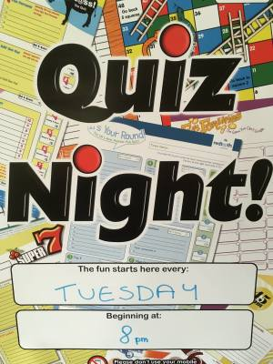 Quiz Every Tuesday 8pm