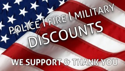 Military, Firefighter, Police discount