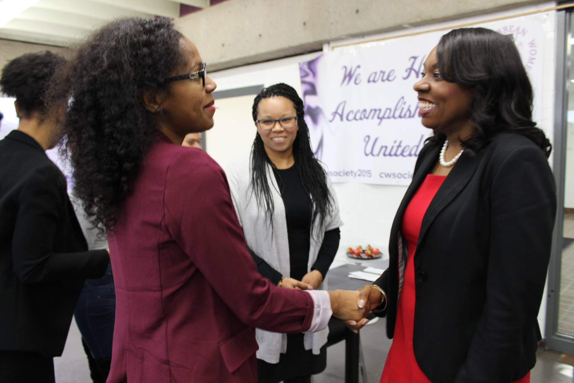 Minister of Education, Mitzie Hunter, and CWS&C5 President, Camille Kerr at the public launching of C5