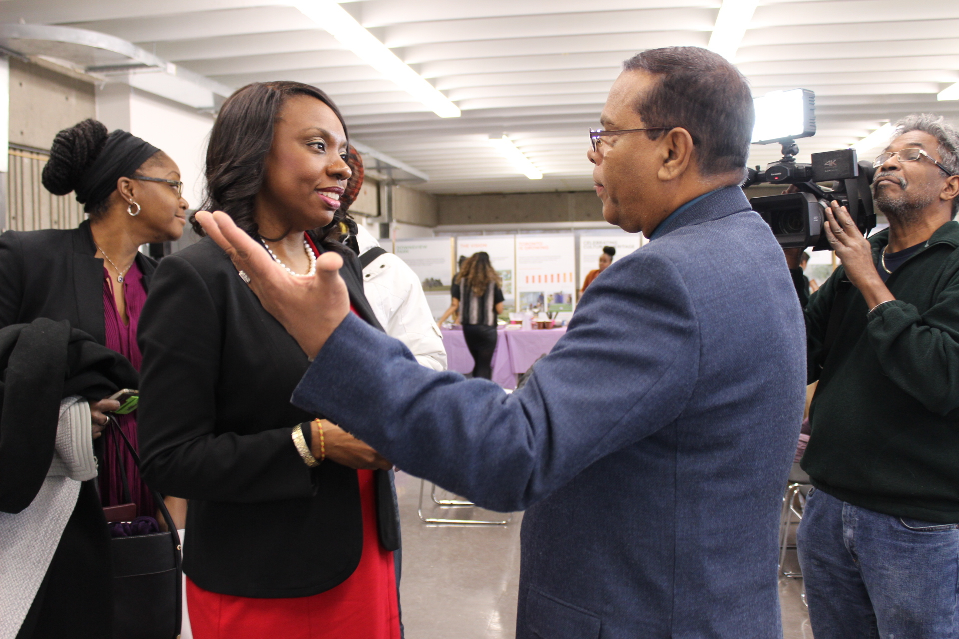 Minister of Education, Mitzie Hunter, and C5 Treasurer, John Laban, at the public launching of C5