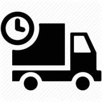 Delivery Truck with timer icon