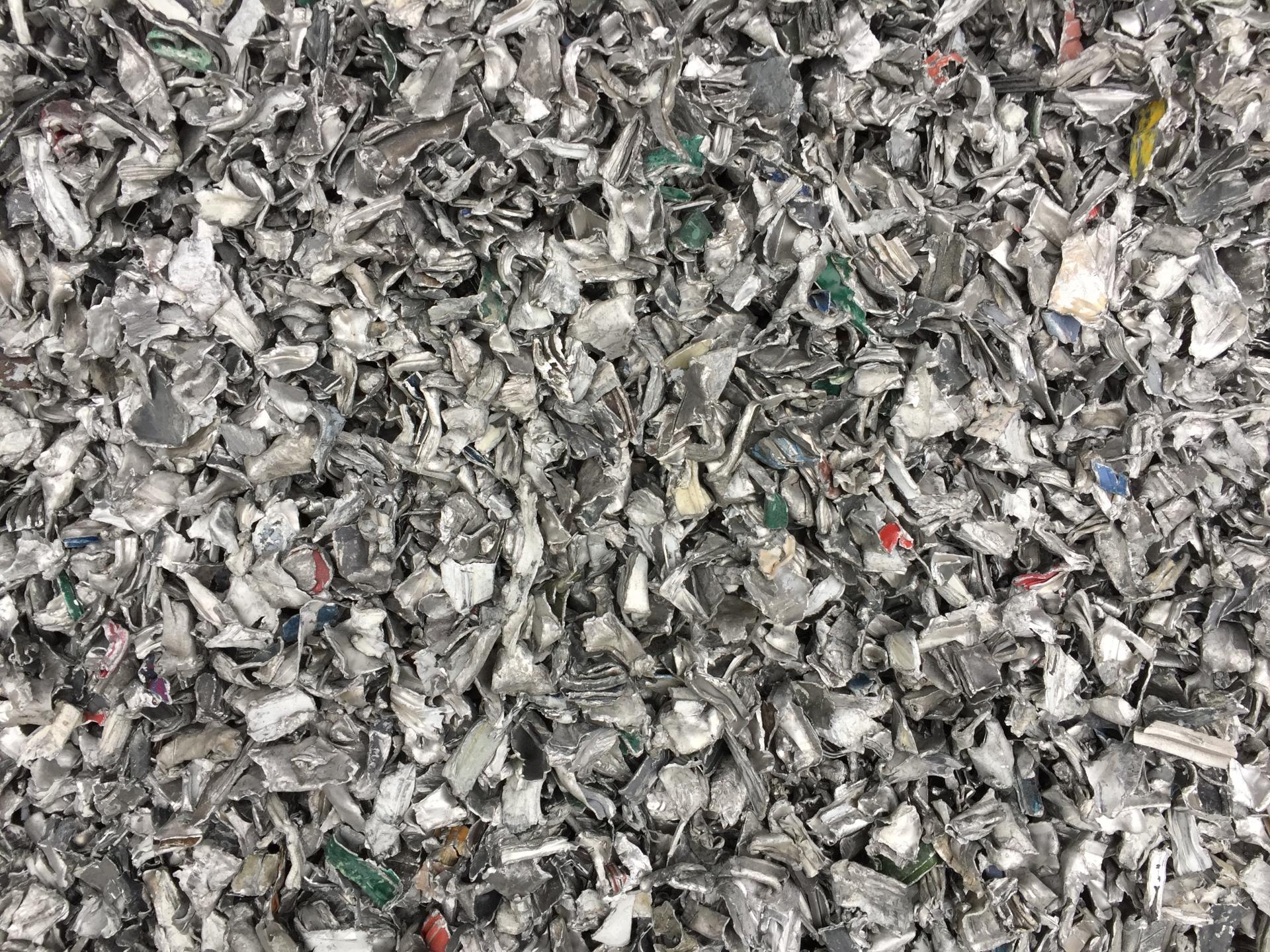 Aluminum after shredder