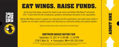 Buffalo Wild Wings Fundraiser