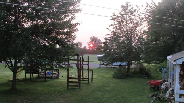 large yard sunrise