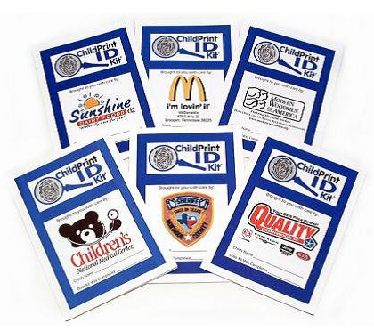 Front Side of Child Safety Kit w/Sponsor Logos