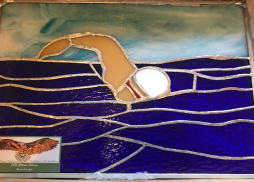 Stained Glass Swimmer