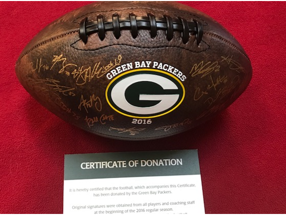 Autographed Packer Football