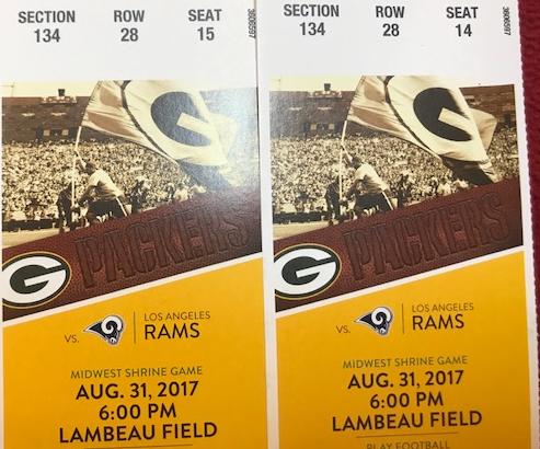 Green Bay Packer Tickets
