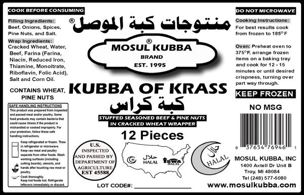 Kubba Krass Label