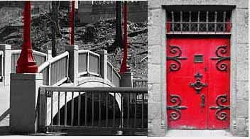 Red Bridge and Door