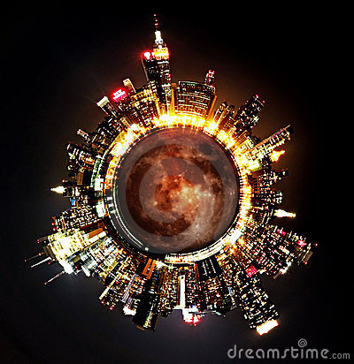 Cityscape globe 2