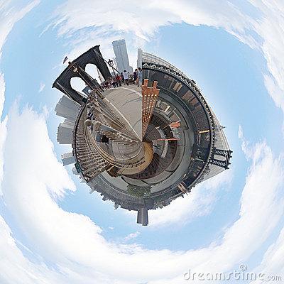 NYC Cityscape Globe 3