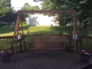A-frame Deck Swing
