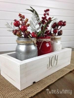 Imagenes con ideas de centros de mesa navideños caseros