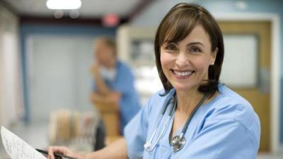 nurse smiling with Elk Velvet Antler endurance