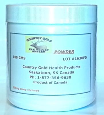 elk velvet antler bulk powder jar 3.5 oz.