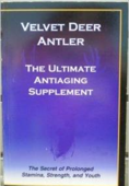Velvet Deer Antler anti aging book highlighting Deer Velvet Antler
