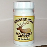 elk antler velvet capsules in Country Gold bottle