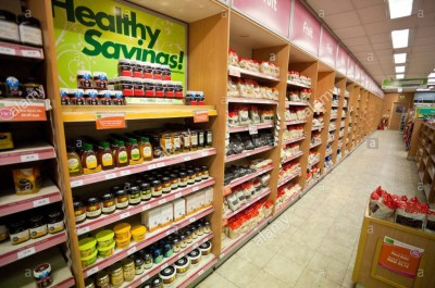 health food store aisle