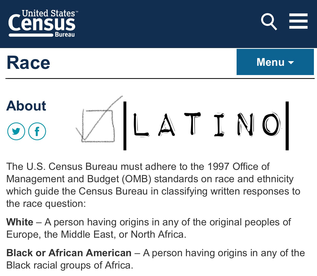 Are Latinos Black or White, President Trump?