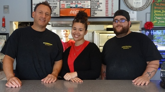 The staff at Hartford Road Pizza will treat you right