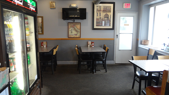 Enjoy dining in at our clean tables or counter