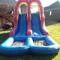 16 ft double slide with balls