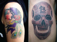 Ryan McCurter Skull Tattoo v2