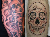 Ryan McCurter Skull Tattoo