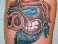 Ryan McCurter Pig Tattoo