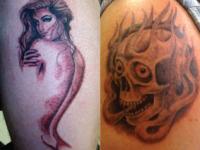 Ryan McCurter Skull Fire Tattoo