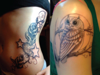 Ryan McCurter Owl Tattoo