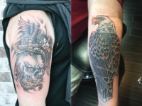 Mike Pfau Bald Eagle Tattoo