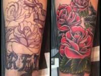 Mike Pfau Roses Coverup Tattoo