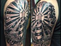 Mike Pfau Lighthouse Tattoo