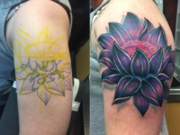 Mike Pfau Lotus Coverup Tattoo