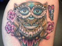 Mike Pfau Owl Tattoo