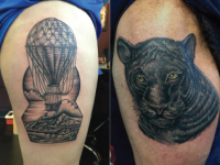 Mike Pfau Hot Air Balloon Tattoo