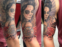 Mike Pfau Day of the Dead Dia de los Muertos Tattoo