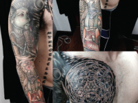 Mike Pfau Shoulder Abstract Tattoo