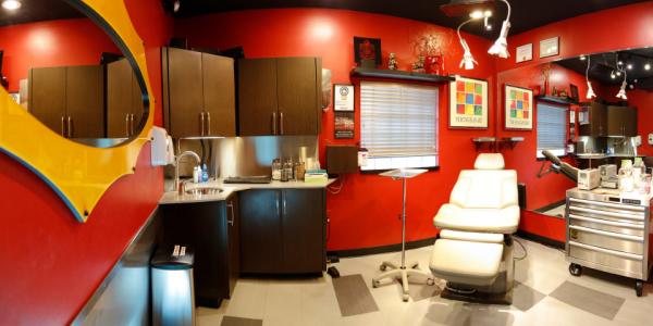 Kaleidoscope Piercing Studio Red
