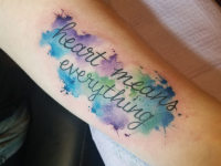 water color quote Tattoo