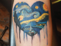 starry night Vangough Tattoo