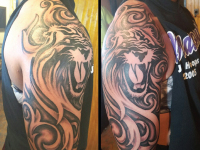 Lion Tribal Tattoo