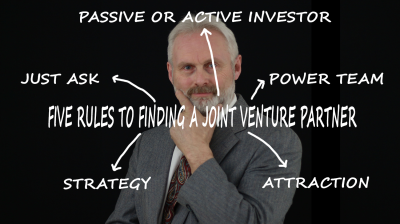 Five Rules to Finding a Joint Venture Partner