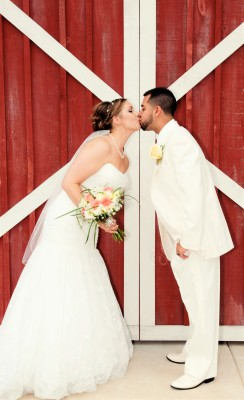 Kissing at the Barn